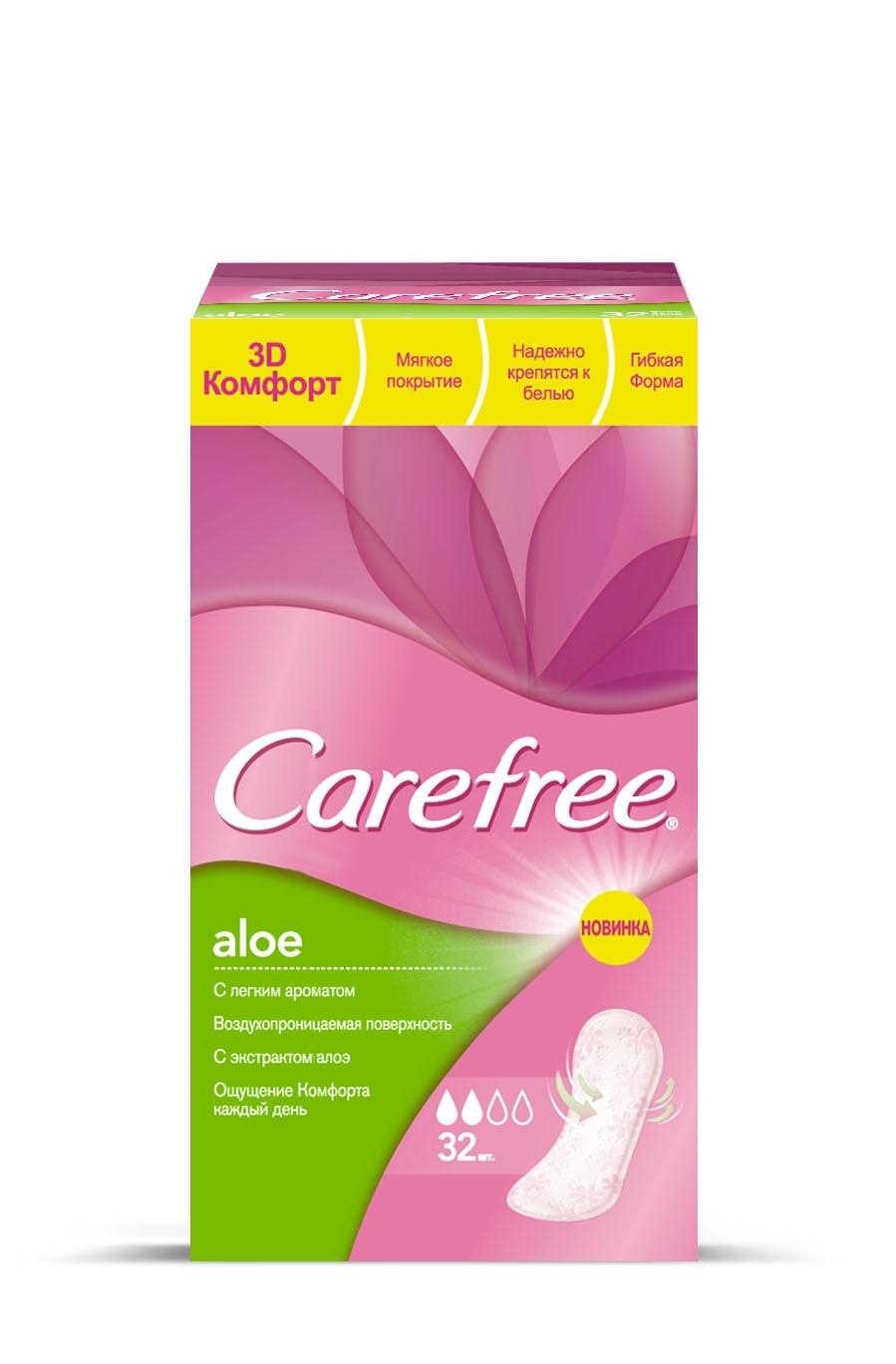 Ежедневные салфетки Carefree® Aloe