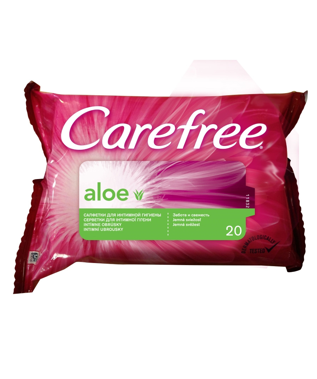 Влажные салфетки Carefree® Aloe