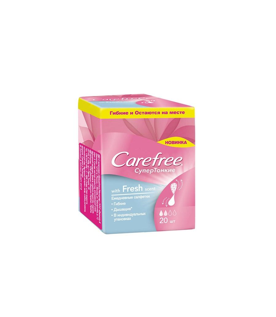 Ежедневные салфетки Carefree® СуперТонкие with Cotton