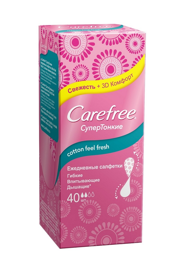 CAREFREE® cotton extract feel fresh